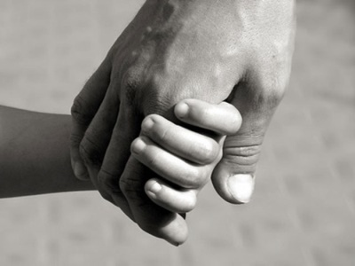 Father And Child Holding Hands, Family.