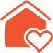 House & heart icon