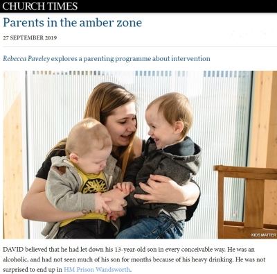 Kids Matter Feature Article In The Church Times.
