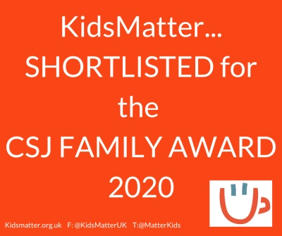 Kids Matter Centre For Social Justice Family Award Nomination 2020.