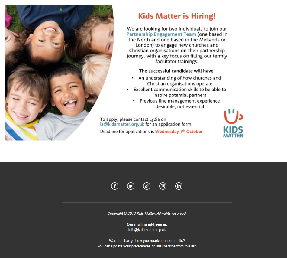 Kids Matter Newsletter